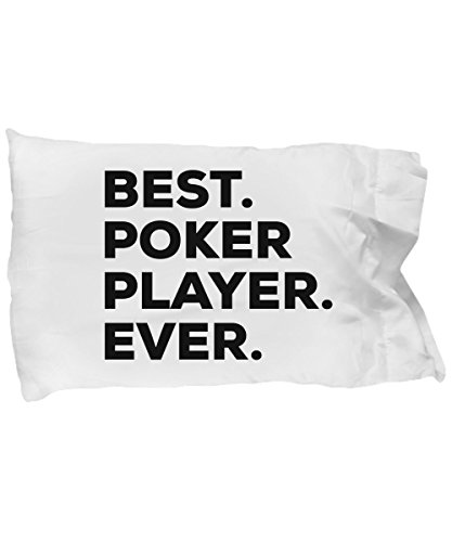 SpreadPassion Poker Player Pillow Case - Best Poker Player Ever - Funny Present Ideas - Birthday Christmas