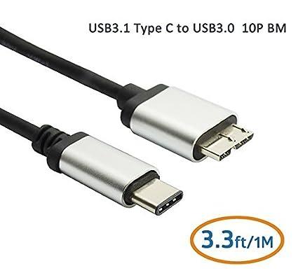 Amazon.com: TECTEK USB 3.0 Type C to Standard Micro B USB 3.0 Male ...
