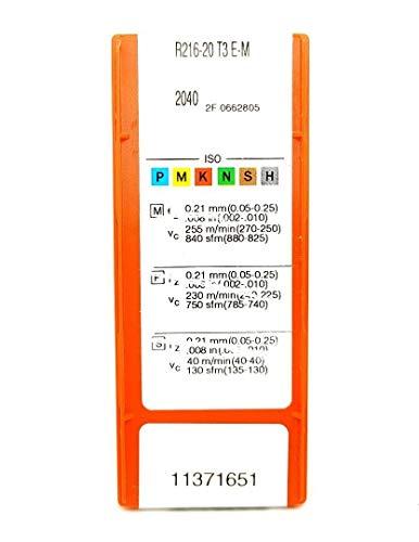 Sandvik R216-20 T3 E-M Hartmetalleinsätze 2040 Kugelnase Frässpitzen #SA2