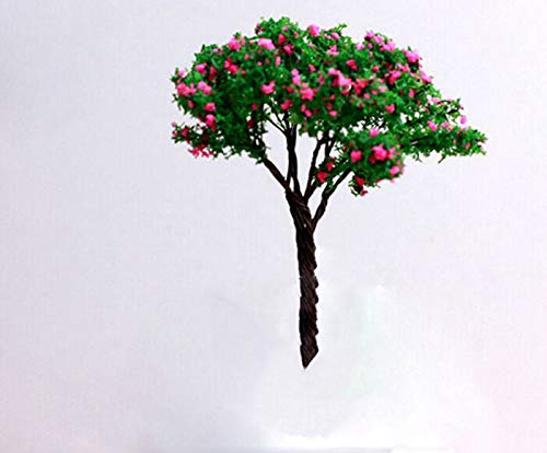 GXOK 3Pcs Resin Miniature Tree Landscape, DIY Craft Accessory Home Garden Decoration (Red)
