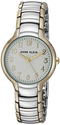 Anne Klein Women's AK/2793SVTT Easy To Read Dial Two-Tone Bracelet Watch