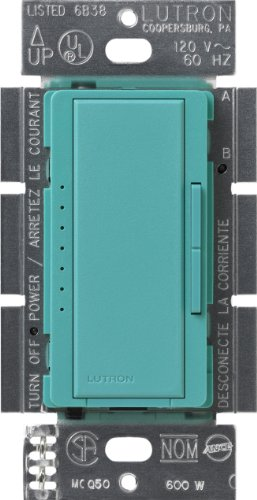Lutron Maestro C.L Dimmer Switch for Dimmable LED, Halogen & Incandescent Bulbs, Single-Pole or Multi-Location, MACL-153M-TQM Turquoise
