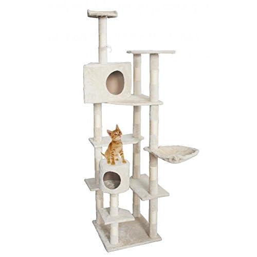 """delicate New BestPet Beige 80"""" Cat Tree Condo Furniture Scratching Post Pet Cat Kitten House"""
