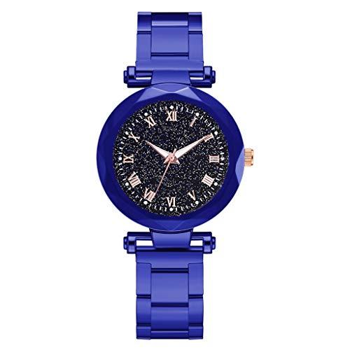 - Kauneus  Waterproof Wrist Watch for Women Fashion Leisure Starry Sky Flickering Quartz Steel Strip Lady Watches