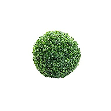 Juanshop Small Ball Tree Potted Artificial Plastic Grass Plants Table Decor Gift For Kids (12 cm / 4.72 )