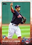 #4: 2015 Topps Update #US82 Francisco Lindor Baseball Rookie Card in Protective Display Case
