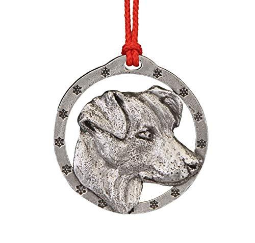 Terrier Russel Jack (Jack Russel Terrier Pewter Ornament, D106OR)