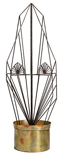 H Potter Garden Trellis Large Wrought Iron Weather Resistant Decorative Yard Art by H Potter