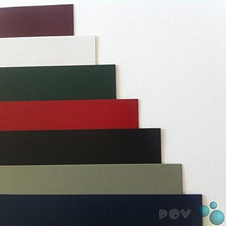 DIN A4 POV/® Einbanddeckel 350g//m/² Noblesse grau