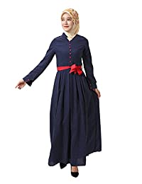 GladThink Women's Muslim Islamic Fashion Robe Maxi Dress