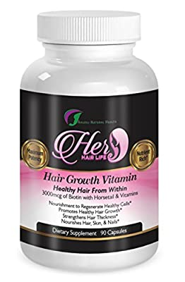 Vitamins for Hair Growth - Healthy Hair Skin and Nails - 90 Pills - With Horsetail and Biotin Supplements for Stronger Hair - Make Hair Grow Faster - Stop Hair Loss