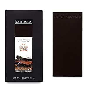 Cacao Sampaka - Tableta de Chocolate Negro 91% Cacao de ...