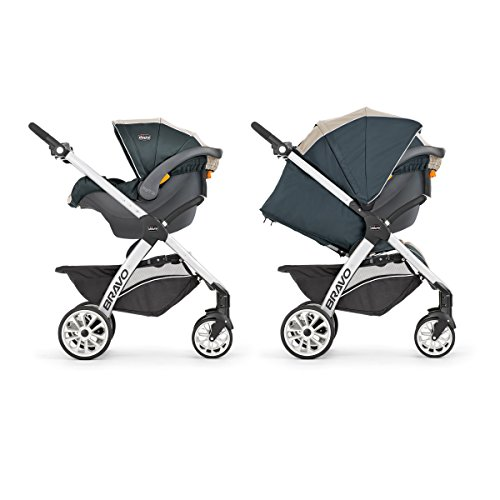 Image of the Chicco Bravo Trio Travel System, Papyrus