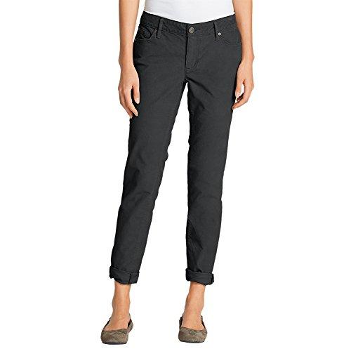 Eddie Bauer Women's Boyfriend Slim Leg Cord Pants, Dk Smoke Regular (14 Wale Corduroy Pants)