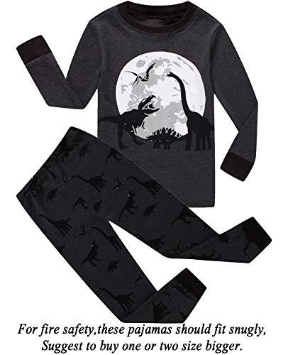 Dolphin&Fish Boys Pajamas Dinosaur Little Kids Pjs Sets 100% Cotton Toddler Sleepwears Children Clothes 6T