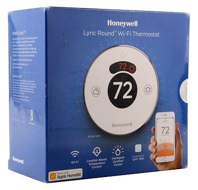 Honeywell Lyric Round Thermostat, to 3 Heat/2 Heat Pumps and Up Heat/2 Cool