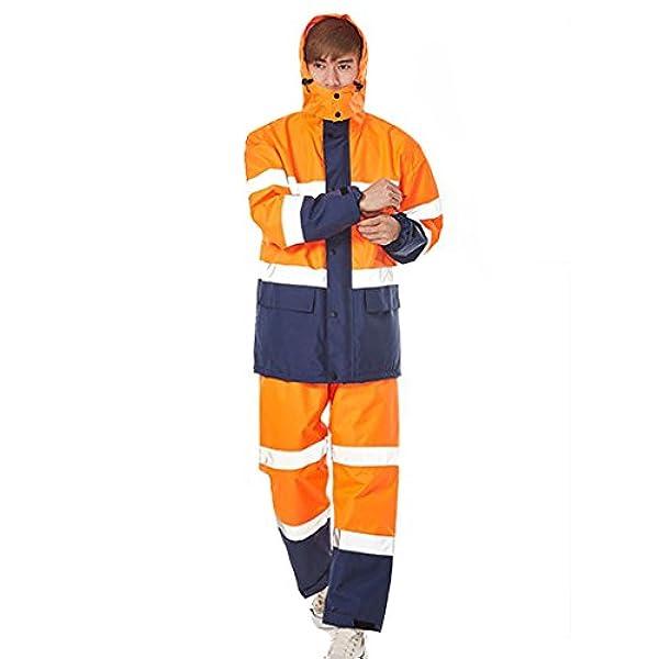Tuta Da Lavoro Completo Impermeabile Giacca Pantalone Antipioggia