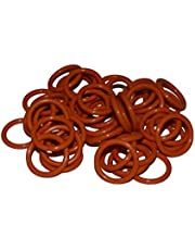 50 Pack - #11105 O-Ring Replacement for Harley Davidson Oil Drain Plug Oring (Orange Color)