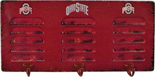 (Imperial Officially Licensed NCAA Merchandise: Wall Mounted Metal Locker Coat Rack, Ohio State Buckeyes )