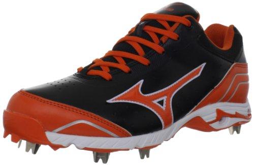 Mizuno Herren 9-Spike Advanced Classic 7 Baseball Cleat Schwarz / Orange