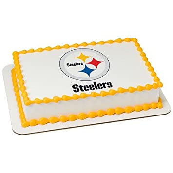 Amazoncom Pittsburgh Steelers Edible Frosting Sheet Cake Topper