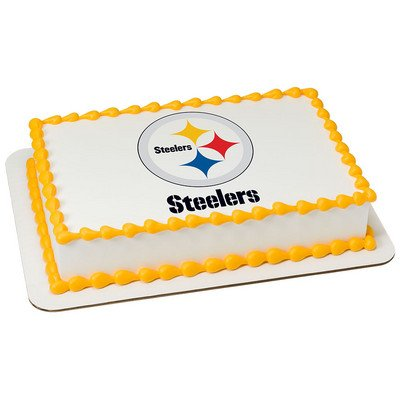Pittsburgh Steelers Edible Frosting Sheet Cake Topper - Licensed - 1/4 Sheet -