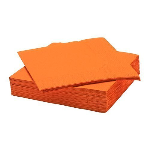 Ikea Fantastisk - Paper Napkin, Orange / 50 Pack / 50 Pack - 40X40 Cm 1 - Pack