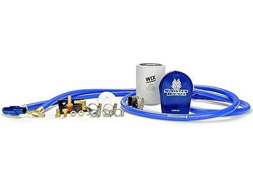 Sinister Diesel Coolant Filtration System Kit (SD-COOLFIL-6.4-W) For FORD POWERSTROKE 2008-2010 6.4L Diesel with All Hardware - No Drilling Or Part Removal Required – Easy Installation