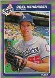 #3: 1985 Fleer Baseball Rookie Card IN SCREWDOWN CASE #371 Orel Hershiser Mint