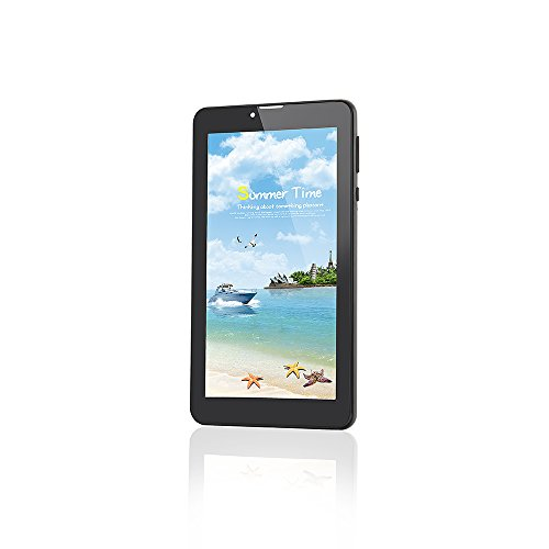 Tablet Android 6.0 Unlocked 3G Phone with Dual Sim Card Slots,7 Inch Tablet PC Quad-core,1GB+8GB Storage,1024×600 IPS Touch Screen,Dual Camera,Bluetooth 4.0, Wi-Fi, GPS, Google Play