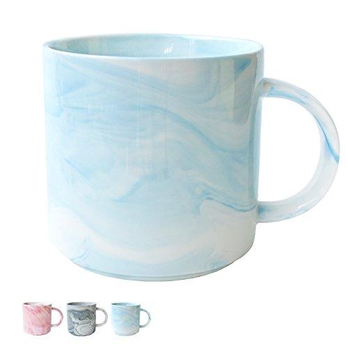 Marble Ceramic Coffee Mug, Blue Marble Cup for Women, Girls, Wife, Mom, Grandma, 13 Ounce/380 Milliliters, 1 -