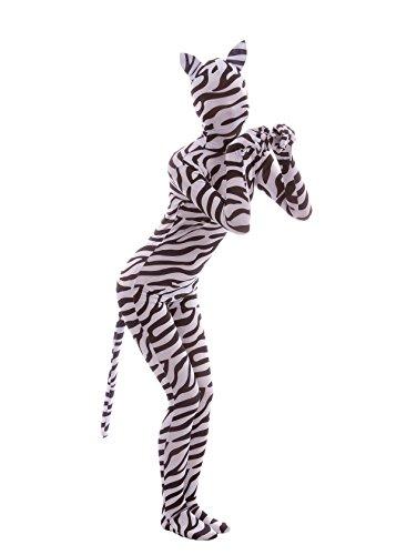 Costume Spandex Sheface Complet Bodysuit Zentai Zèbre Cos