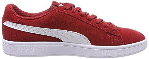 Puma puma V2 Rosso basse bianco per Smash adulti Sneakers Dahlia rosso YYzU6