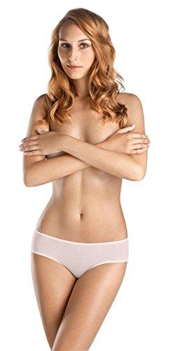 HANRO Women's Ultralight Hi Cut Brief, White Rose, X-Small