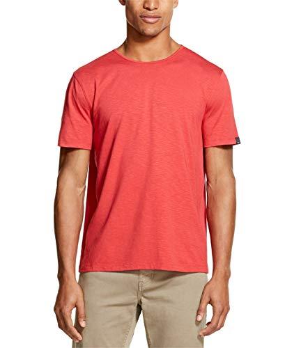 DKNY Mens Mercerized Solid Short Sleeve Tee T-Shirt Red XL (Dkny Short Sleeve Tee T-shirt)