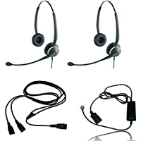 Jabra 2125 Headset Training Bundle | Headsets, Telephone Interface Cable, Y-Training Splitter Cord (Observation- Live/Mute version) | Use for Coaching, Supervising, Training, Monitoring