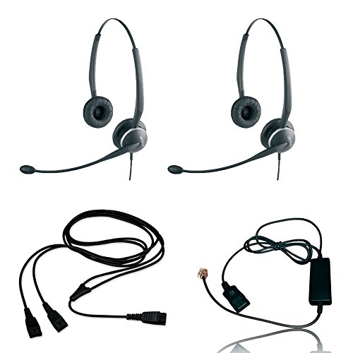 2125 Usb - Jabra 2125 Headset Training Bundle | Includes Jabra Headsets, Headser Adapter, Y-Training Splitter Cord | Use for Coaching, Supervising, Training, Monitoring (Basic Bundle)