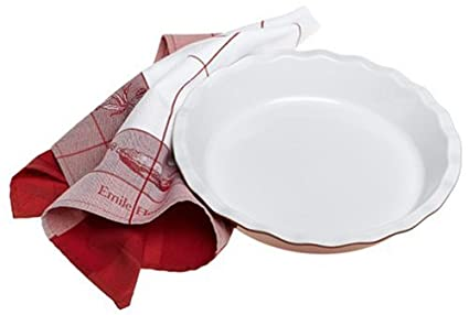 Emile Henry Couleurs 12-Inch Pie Plate with Tea Towel Red  sc 1 st  Amazon.com & Amazon.com: Emile Henry Couleurs 12-Inch Pie Plate with Tea Towel ...