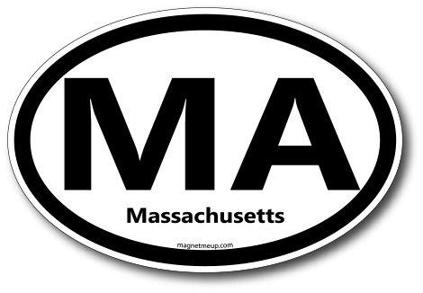 MA Massachusetts Car Magnet US State Oval Refrigerator Locker SUV Heavy Duty Waterproof…