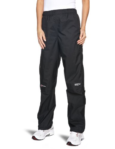 Berghaus Women's Paclite Gore-Tex Waterproof Pants, Black, Size 4/Short