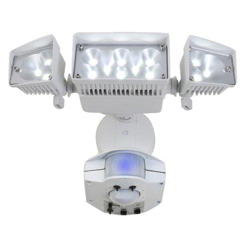 Utilitech Led Garage Lights: 360-Degree 3-Head Dual Detection Zone White LED
