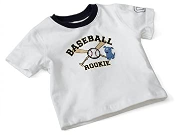 Amazon baseball rookie t shirt white months baby