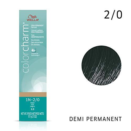 Wella Color Charm Demi 1n Black, 2 oz.
