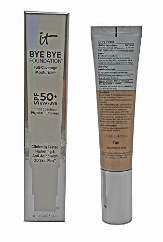 IT Cosmetics Bye Bye Foundation Full Coverage Moisturizer with SPF 50+: TAN - 1 oz-30 ml