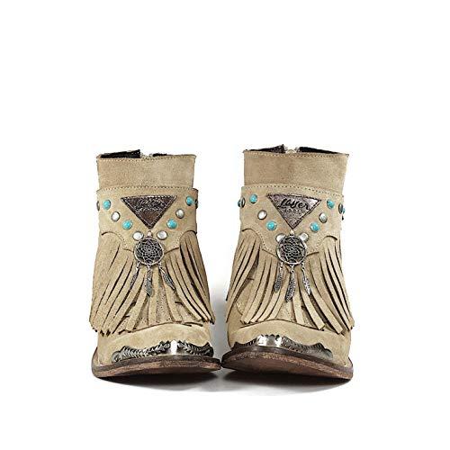 De Layer Boots Color Atrapasueños Bota Tachuelas Baja Con Metalizadas Y Cubrebotas Campera Ante Arena Turquesas xUIgUrwqd