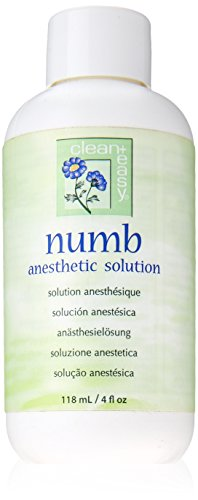 - Clean + Easy Numb Anesthetic Solution, 4 Ounce