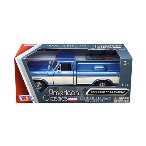 Motormax 79346AC-BLCRM 1979 Ford F-150 Pickup Truck 2 Tone Blue/Cream 1/24 Diecast Model Car