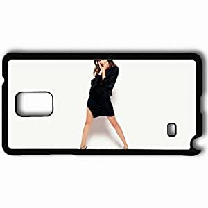 Personalized Samsung Note 4 Cell phone Case/Cover Skin Amy Acker Dress Legs Brunette Black