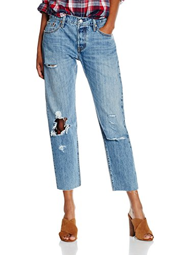 W26l36 For 501 Ct Women Medio Jeans Vaquero Levi's Azul A8nPIP