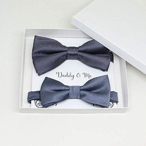Charcoal Bow tie set for daddy and son,